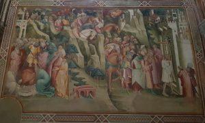 Cappella della Croce di Giorno. Cappella della Croce di Giorno. Cenni di Francesco, Eraclio fa decapitare Cosroe e riporta scalzo la Croce a Gerusalemme