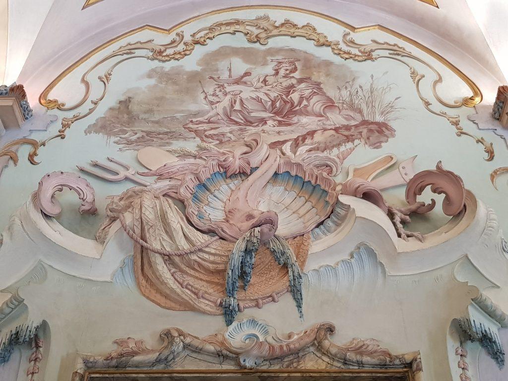 Galleria degli stucchi di Palazzo Pianetti - dettaglio
