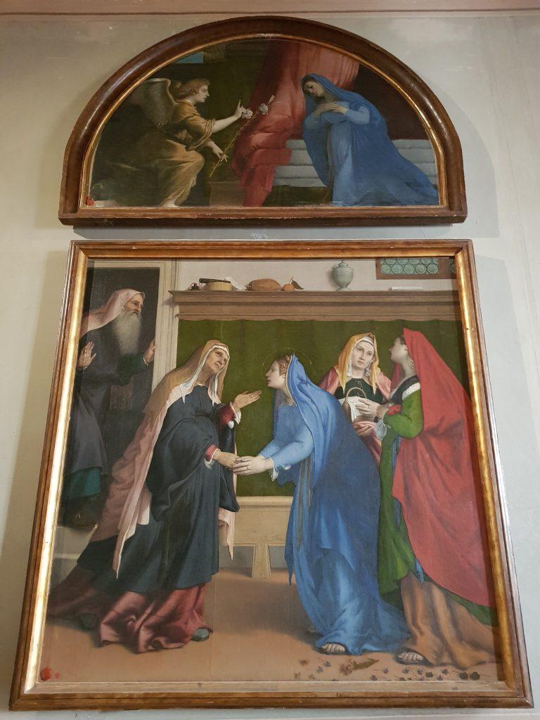 Lorenzo Lotto, Visitazione e, nella lunetta, Annunciazione