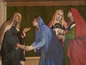 Lorenzo Lotto, Visitazione - dettaglio