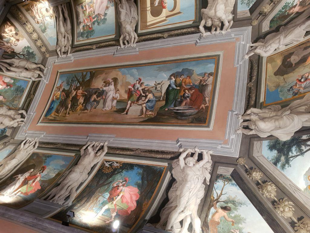Carlo Paolucci di Urbino e Placido Lazzarini di Pesaro, Storie di Enea, soffitto
