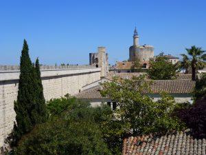 Le mura ovest e la Torre di Costanza in fondo