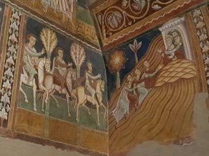 Oratorio di san Silvestro. I messi di Costantino si recano sul monte Soratte e incontrano Silvestro I
