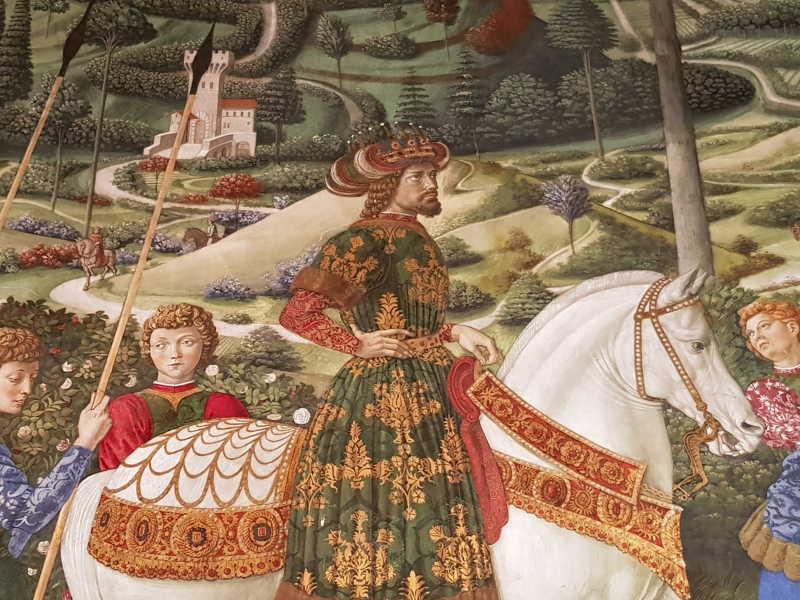 Mago in età virile, tradizionalmente identificato con Giovanni VIII Paleologo, imperatore d'Oriente