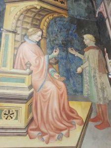 Gentile da Fabriano, Sala delle arti liberali e dei pianeti di Palazzo Trinci a Foligno, dettaglio dell'Aritmetica