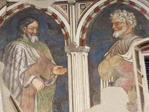 Palazzo Trinci a Foligno, sala dei giganti, dettaglio degli affreschi