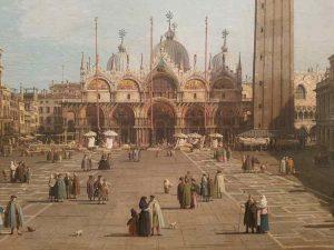 Canaletto, Piazza San Marco, verso est, Venezia - dettaglio