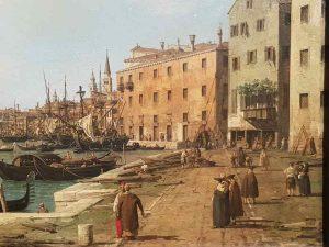 Canaletto, La Riva degli Schiavoni verso ovest, da San Biagio, Venezia - dettaglio