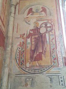 San Bevignate a Perugia, affresco di Apostolo