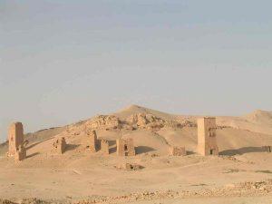 Tombe nella valle di Palmira in Siria