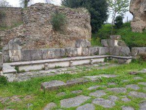 Il tracciato della via Flaminia ad Ocriculum - dettaglio