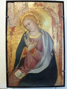 Taddeo di Bartolo, La Vierge de l'annonciacion, Musé du Petit Palais, Avignon