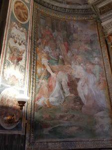 Abside sinistro del transetto - dettaglio della Via Crucis