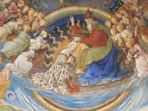 Affresco di Filippo Lippi nella Cattedrale di Santa Maria Assunta a Spoleto - dettaglio dell'incoronazione della Vergine