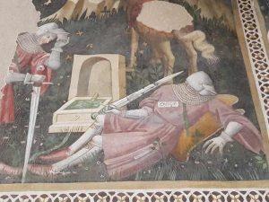 Camera Pinta, Rocca Albornoziana - dettaglio del cavaliere addormentato