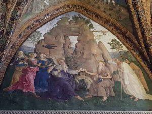 Pinturicchio, Sala dei Santi, Sant'Antonio Abate e San Paolo di Tebe, Appartamento Borgia