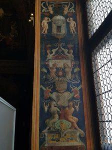 PInturicchio, Sala dei Santi, Candelabra nello sguincio della finestra, Appartamento Borgia