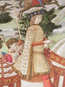 Dettaglio del Mago giovane, tradizionalmente identificato con Lorenzo il Magnifico