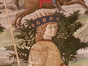 Mago giovane, identificato in Lorenzo il Magnifico - dettaglio del copricapo