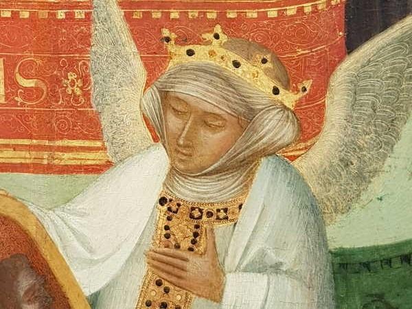 Ambrogio Lorenzetti a Massa Marittima - dettaglio della Carità