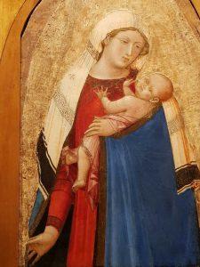 Polittico di Castelvecchio, dettaglio della Madonna col Bambino