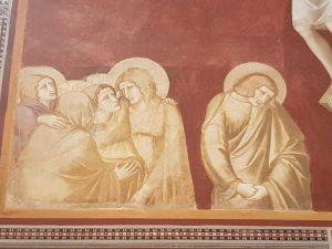 Pietro Lorenzetti, Crocifissione - dettaglio degli astanti