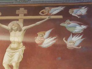 Pietro Lorenzetti, Crocifissione - dettaglio degli angeli