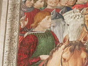 Personaggio del corteo del mago giovane identificato in Sigismondo Pandolfo Malatesta