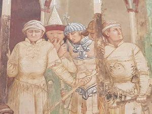 Ambrogio Lorenzetti, Martirio di frati francescani - dettaglio degli astanti