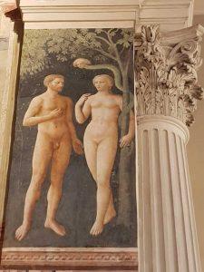 Cappella Brancacci, Masolino, La tentazione di Adamo ed Eva