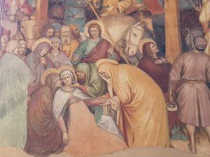 Oratorio di San Giorgio - dettaglio della Crocifissione