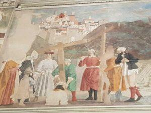 Piero della Francesca, Cappella Maggiore della chiesa di San Francesco, Ritrovamento delle tre croci
