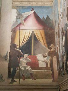 Piero della Francesca, Cappella Maggiore della chiesa di San Francesco, Sogno di Costantino