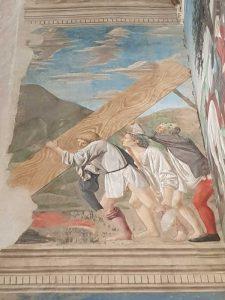 Piero della Francesca, Cappella Maggiore della chiesa di San Francesco, Sollevamento della Croce