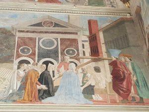 Piero della Francesca, Cappella Maggiore della chiesa di San Francesco, Verifica della vera Croce