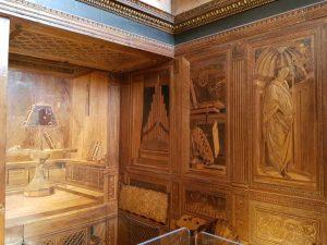 Studiolo di Urbino - dettaglio di un angolo