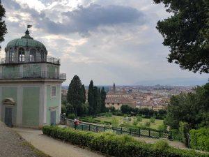 Kaffeehaus e sottostante Giardino di Ganimede, Giardino di Boboli