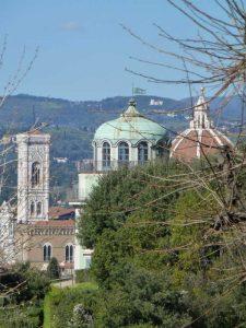 Vista della Kaffeehaus e del Duomo di Firenze, Giardino di Boboli