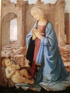 Domenico del Ghirlandaio, Madonna in adorazione del Bambino (Madonna Ruskin) - dettaglio