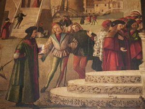 La Scuola Dalmata di Venezia, Vittore Carpaccio, Miracolo di san Trifone - dettaglio