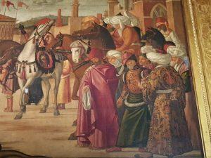 La Scuola Dalmata di Venezia, Vittore Carpaccio, Trionfo di san Giorgio - dettaglio degli astanti