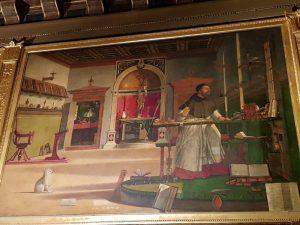 La Scuola Dalmata di Venezia, Vittore Carpaccio, Visione di sant'Agostino