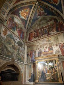 Domenico Ghirlandaio, cappella Sassetti, pareti frontale e sinistra