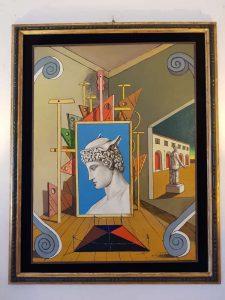 Casa de Chirico, una delle opere esposte nella casa-museo