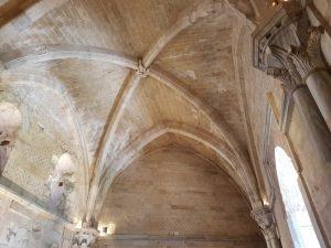 Castel del Monte, sala al primo piano - dettaglio della volta