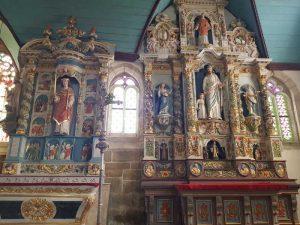 Retablo di san Milau (a sinistra) e di san Giuseppe (a destra)