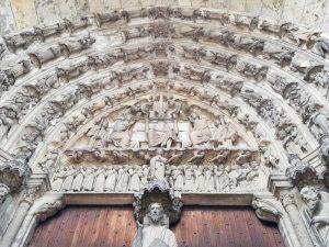 Portale sud, arcata centrale - dettaglio