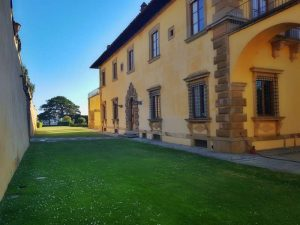 Villa Gamberaia, bowling green verso il parterre d'eau