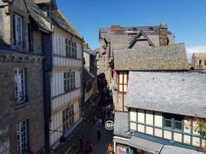 Grand-rue. Visitare Mont-Saint-Michel