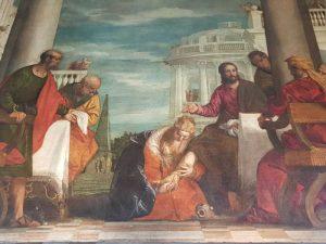 Dettaglio della Cena del Veronese, Sala di Ercole